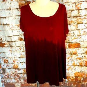 American Eagle AEO Red Tie Dye Short Sleeve shirt